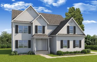 Elevation A. Cumberland, VA New Home