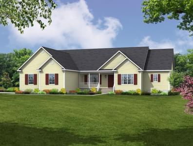Elevation A. New Home in Cumberland, VA