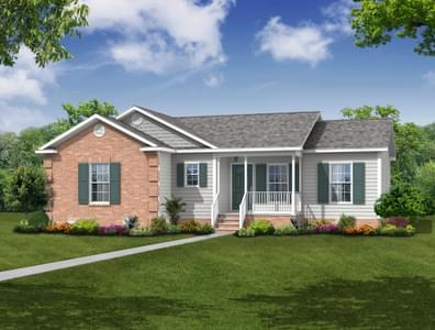Elevation B. 1,293sf New Home in Camden, NC