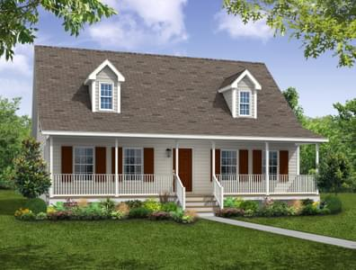 Elevation A. Chesapeake New Home in Camden, NC
