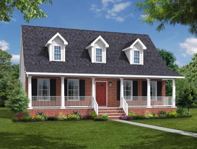Elevation B. Chesapeake New Home in Camden, NC