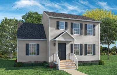 Elevation A with Brick Foundation. New Home in Greenville, NC