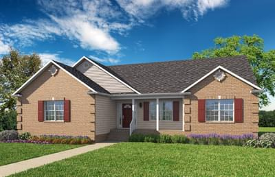 Elevation B. 1,682sf New Home in Cullen, VA