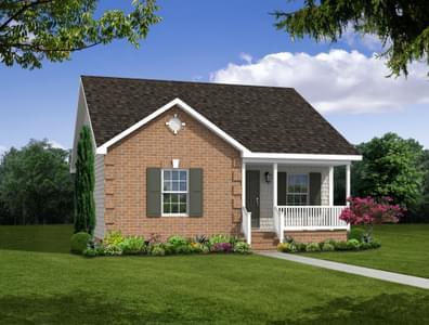 Elevation B. James New Home in Cullen, VA