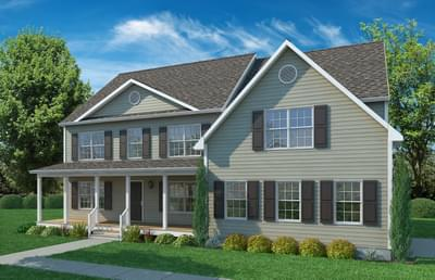 Elevation A. New Home in Cullen, VA