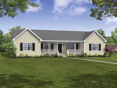 Elevation A. Mathews II New Home in Gloucester, VA