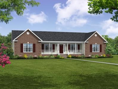 Elevation B. 2,052sf New Home in Cullen, VA