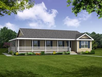 Elevation A. 1,689sf New Home in Cumberland, VA