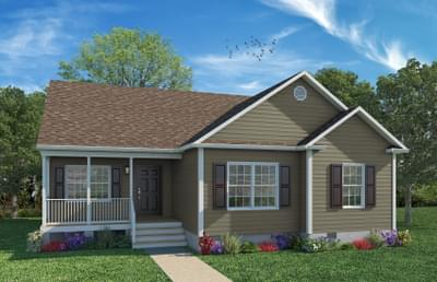 Elevation A. Oakton New Home in Greenville, NC