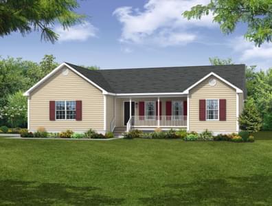 Elevation A. Shenandoah New Home in Cullen, VA