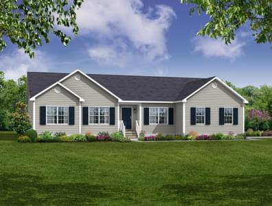 Elevation A. 2,138sf New Home in Cullen, VA