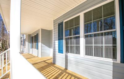 Winchester Elevation (A) Porch. Fredericksburg, VA Custom Home Design Center Winchester Elevation (A) Porch