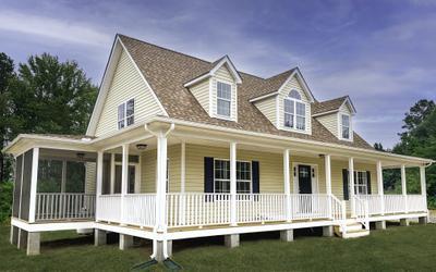 Harlow Elevation (A). Richmond, VA Custom Home Builder Harlow Elevation (A)