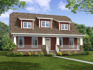 Elevation C. 2,026sf New Home in Gloucester, VA